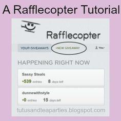 Tutus and Tea Parties: Rafflecopter Tutorial