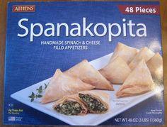 spanakopita costco appetizers package picture -- Costco