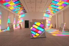 Catch as Catch Can exhibition installation by Daniel Buren, London – UK