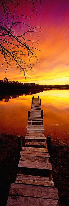 Weathered beautiful little rundown old jetty, Wallaga Lake, Bermagui, New South Wales  Australia by Mark Gray