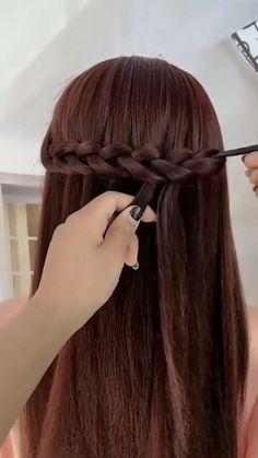 Easy Hairstyles For Medium Hair, Braids For Long Hair, Braided Hairstyles, Elven Hairstyles, Wedding Hairstyles, Rock Hairstyles, Hair Up Styles, Medium Hair Styles, Hijab Styles
