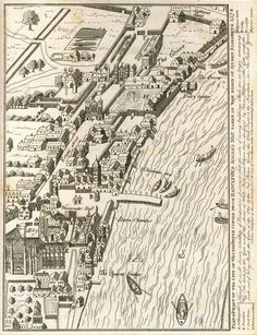 City Of Westminster, 1578 In the top right hand corner you can see 'Scotland Yard'. London Map, London Skyline, Old London, London City, Old World Maps, Old Maps, London History, British History, Vintage Maps