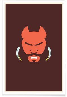 Mr T als Premium Poster von Bruno Morphet | JUNIQE
