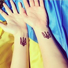 #Tryzub #tatoo #Ukraine #love #revolution