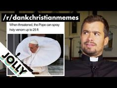 """Something fun to share with your young people this week?  British Priest Reacts to """"DANK CHRISTIAN MEMES""""?!! - YouTube Grace Park, Christian Memes, Youth Ministry, Young People, Priest, Comedy, British, Bible, Reading"""
