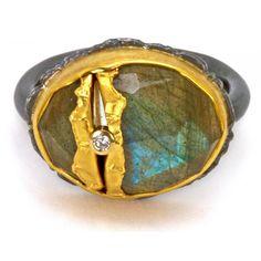 Labradorite Golden Joinery Ring