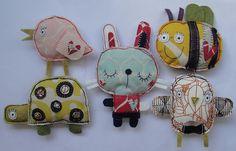 use fabric scraps to make darling dolls :)