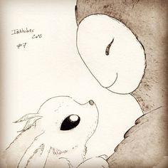 Ori and the Blind Forest fan art by Instagram user violette_grabski