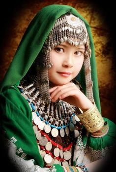 traditional costume | Tumblr aHazara girl in traditional costume, Afghanistan