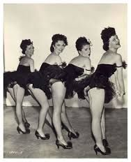 vintage showgirls pose