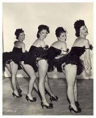 vintage showgirls pose