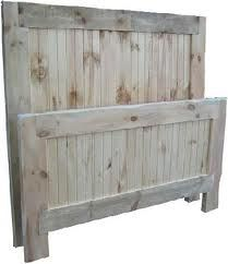 rustic headboard, love this.