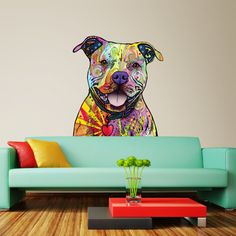 Pit Bull Wall Sticker Cut Out Dean Russo Pop by MyWallStickers