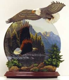 Bradford Exchange Masters of the Wind Eagle Plate
