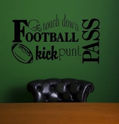 Wall Vinyl Football Wall Decal by twiceasnicelettering on Etsy, $15.00
