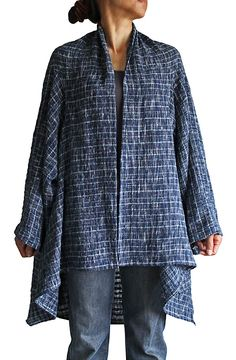 ターポン手織り綿のシンプル羽織  JFS-060-04
