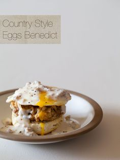 A recipe for Country Style Eggs Benedict.  By Spoon Fork Bacon.