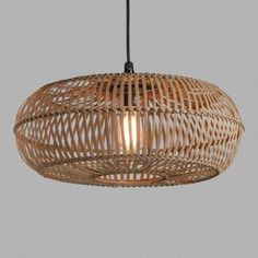 Natural Woven Rattan Round Outdoor Pendant Shade