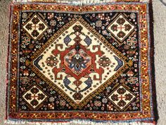 """Bill Wenk Qashgai bagface 1'8""""x2'1"""" Outstanding wool and natural dyes"""