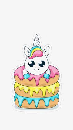 Unicorn Drawing, Unicorn Art, Cute Unicorn, Rainbow Unicorn, 365 Kawaii, Chibi Kawaii, Kawaii Doodles, Cute Food Drawings, Cute Kawaii Drawings