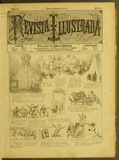 Angelo Agostini – Revista Ilustrada (1887) primeiro a criar uma história em quadrinhos publicada no Brasil.