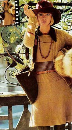 Vogue Italia 1972 Beska Sorensen  Photo by Mike Reinhardt