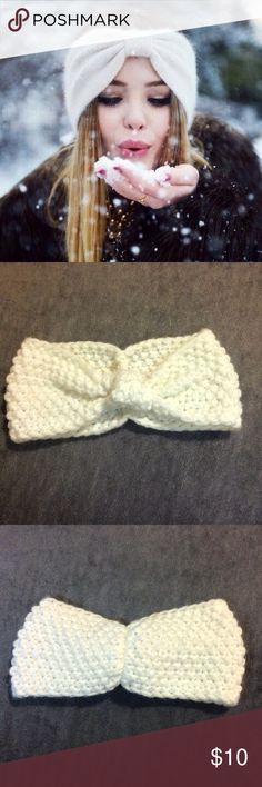 White crochet knit headband White knit crochet headband. Very stylish and perfect for the chilly weather. Handmade & brand new Accessories Hair Accessories