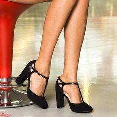 Pantofi cu Toc XKK150B Black Mei Pumps, Heels, Pewter, Black, Fashion, Heel, Tin, Moda, Black People