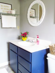 A Bathroom to Love: A Long Journey Updated bathroom for little money$