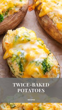 Broccoli and Cheddar Twice-Baked Potatoes are the epitome of comfort food! Add a salad to make them a full meal. Meatloaf Recipes, Steak Recipes, Potato Recipes, Pasta Recipes, Dinner Recipes, Milk Recipes, Fetuchini Alfredo, Alfredo Recipe, Homemade Chicken Alfredo
