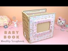 Baby Scrapbook 🧸 Baby's First Year Scrapbook Ideas. Album is perfect for Baby's monthly pictures. Large Scrapbook, Baby Scrapbook, Scrapbook Albums, Paper Craft Work, Paper Crafts, Monthly Pictures, Babies First Year, Bulb Flowers, Baby Month By Month