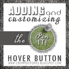 Adding and Customizing the Pin It Hover Button