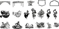Lord Ganesha Clipart For Wedding Card Wedding Symbols, Hindu Wedding Cards, Wedding Logos, Hindu Weddings, Wedding Titles, Indian Weddings, Wedding Icon, Wedding Art, Card Wedding