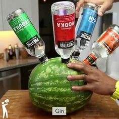 Alcoholic Watermelon leave for 24 hours and the Watermelon will soak up the…