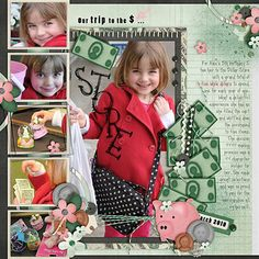 """""""Our Trip to the Dollar Store """" by Iowan, as seen in the Club CK Idea Galleries. #scrapbook #scrapbooking #creatingkeepsakes"""