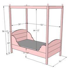 Bouwtekening peuterbed - Blueprint for toddler bed