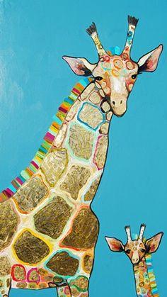 Gold Giraffes by Eli Halpin #elihalpin #giraffes