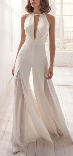 Pretty Dresses, Beautiful Dresses, Wedding Jumpsuit, Wedding Pants, Bridesmaid Dresses, Prom Dresses, Wedding Bridesmaids, Jumpsuit Dress, Casual Jumpsuit