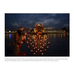 A Sikh father helps his son to light a lamp, near the illuminated Golden Temple… Lord Rama Images, Sufi Saints, Golden Temple Amritsar, Religious Photos, Night Scenery, Travel Memories, Incredible India, Amazing, Wanderlust Travel