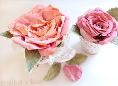 Faux Mulberry Paper Roses: use a crafty trick to give card stock the look of mulberry paper, and create gorgeous paper flowers for your home.