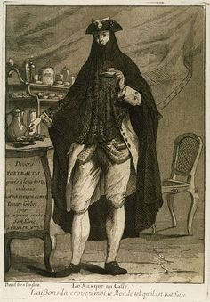 Giovanni David, Etching of a Masked Gentleman at a Coffee House: From Divers Portraits, 1775