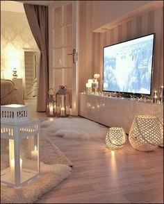 Beautiful Romantic Living Room Design And Decor Ideas - Living-room is the most significant and most open room at home, it invites visitors, it mirrors our lifestyle, so it ought to be only kept up. House Design, Room Design, Interior, Cozy House, Living Room Decor, Home Decor, House Interior, Bedroom Decor, Dream Rooms