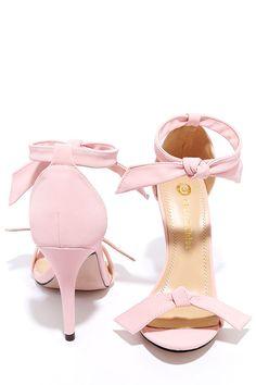 Belle Epoque Light Pink Nubuck Ankle Strap Heels at Lulus.com!