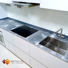 Metallic Epoxy Singapore specialises in metallic epoxy coatings and installations, offering customisable solutions for floors and countertops in Singapore. Epoxy Countertop, Kitchen Countertops, White Highlights, Lava Flow, Topcoat, Singapore, Marble, Sink, Metallic