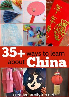 Over 35 fun kids crafts and activities about China. Perfect for learning about Chinese New Year!