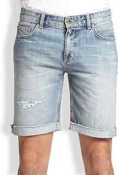 $75, Light Blue Denim Shorts: Gant Rugger Sticky Boy Denim Shorts. Sold by Saks Fifth Avenue. Click for more info: http://lookastic.com/men/shop_items/51296/redirect