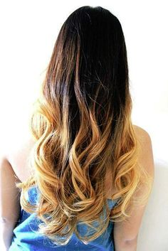 Dark long Ombre effect with curls. Pinned by Pink Pad, the women's health app with the built-in community!