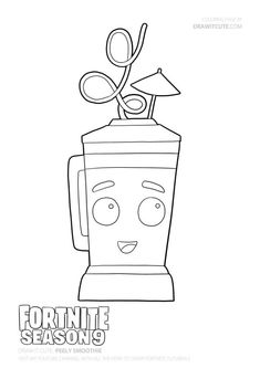 How To Peely Smoothie Fortnie Season 9 Tutorial Step By Step With Coloring Page Draw It Cute F Cool Coloring Pages Coloring Tutorial Cartoon Coloring Pages