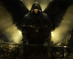 ID by zalas on DeviantArt Angels And Demons, Dark Angels, Fallen Angels, Evil Art, Dark Artwork, World Of Darkness, Computer Art, Angel Of Death, Fantasy Creatures