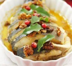 Karp z orzechami włoskimi Eat Smarter, Cheesesteak, Christmas Eve, Baked Potato, Chicken, Meat, Cooking, Ethnic Recipes, Food